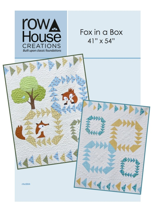 Front Cover Fox in a Box Fox and Geese Quilt Block Modern Baby Quilt