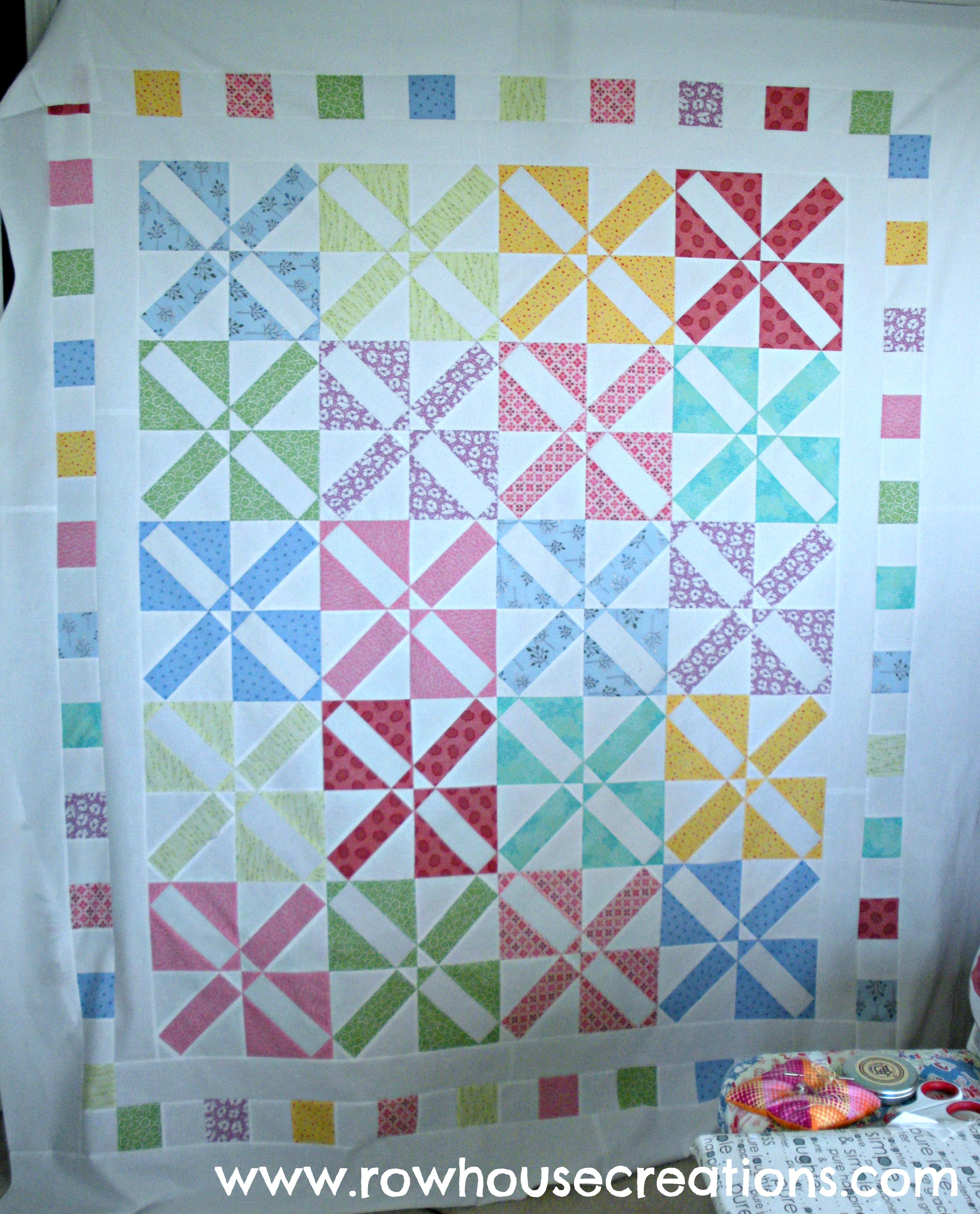 New pattern release row house creations for Modern house quilt pattern