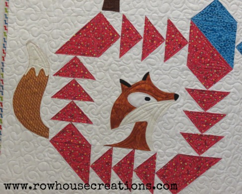 Fox in a Box Fox and Geese Quilt Block