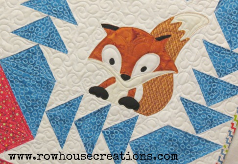 Fox in a Box Baby Toddler Quilt Fox and Geese Quilt Block