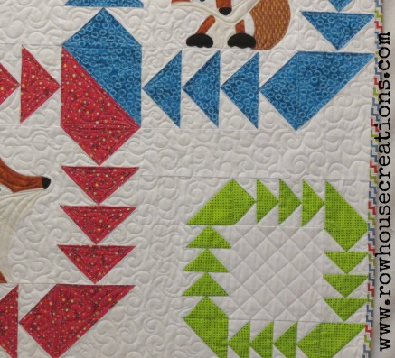 Fox and Geese Quilt Block Fox in a Box baby Toddler Quilt