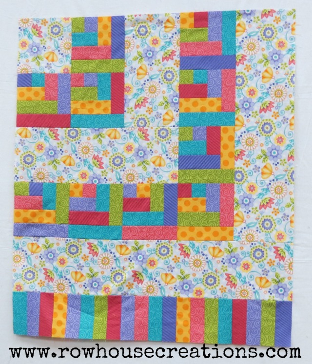 ONe Big Cabin Non-applique Baby Quilt