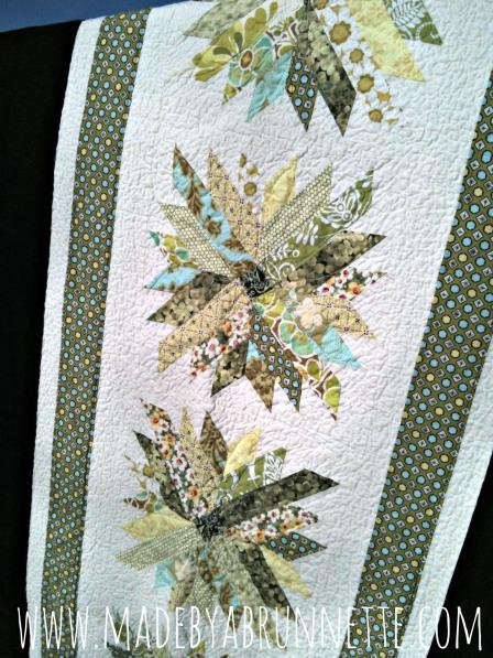 chrysanthemum quilt detail Mums for Melissa