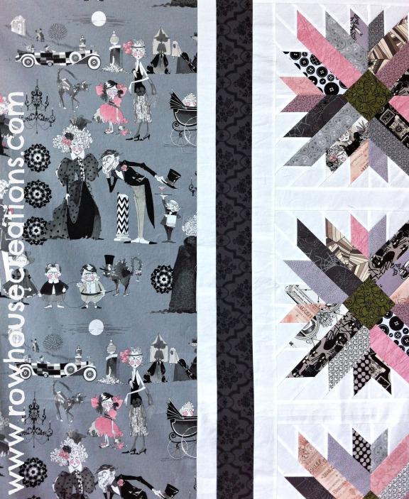 Ghastlies Ghastly Fabric Mums for Melissa Detail Alexander Henry a Ghastlie Reunion