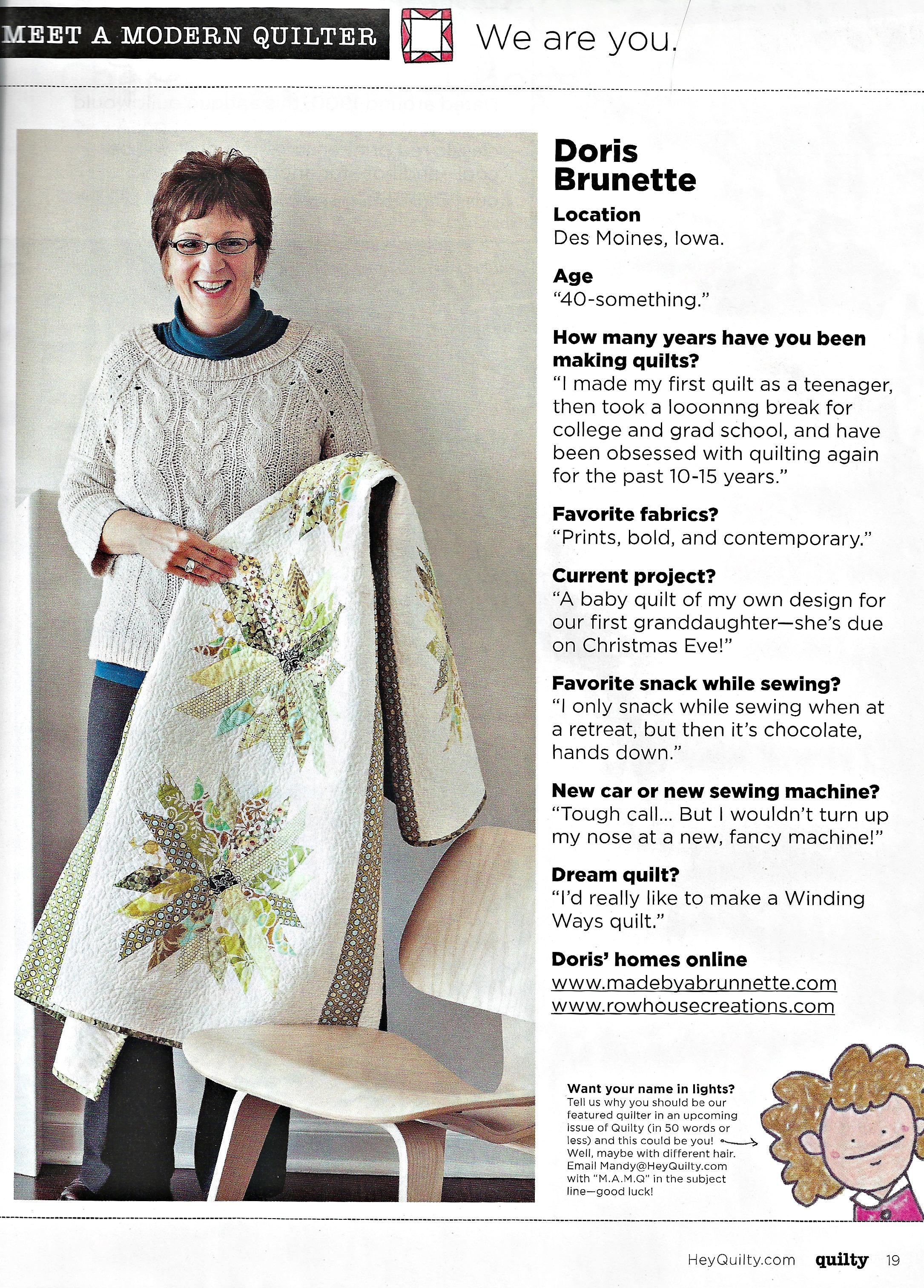 Modern dress des moines - Quilty Magazine Meet A Modern Quilter Doris Chrysanthemum Quilt