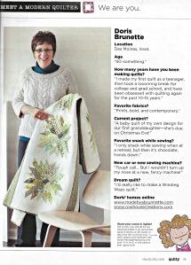 Quilty Magazine Meet a Modern Quilter Doris Chrysanthemum Quilt
