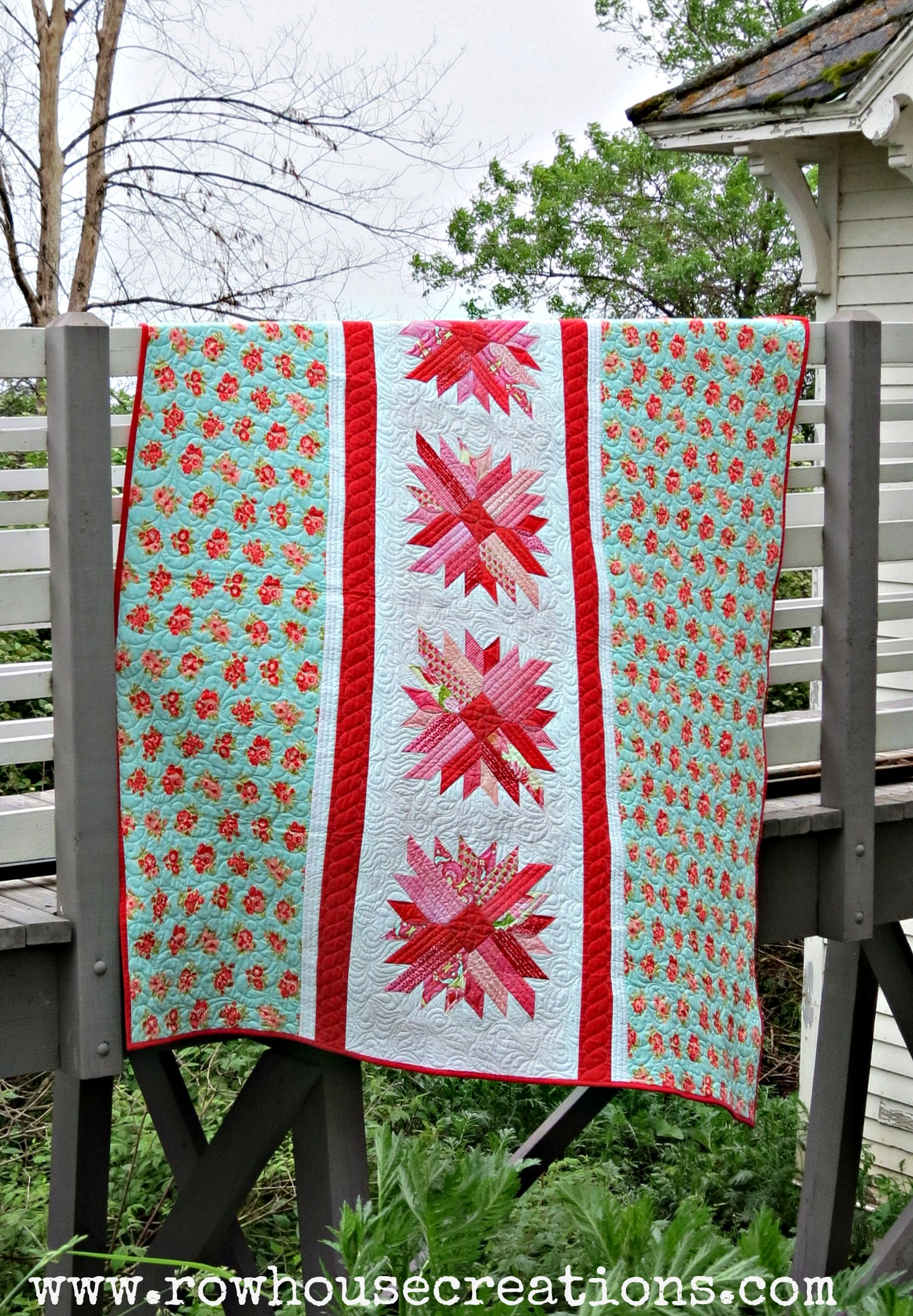 Modern quilting row house creations for Modern house quilt pattern