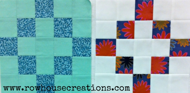 Building Foundations QAL Block 6 Cross Quilt Block