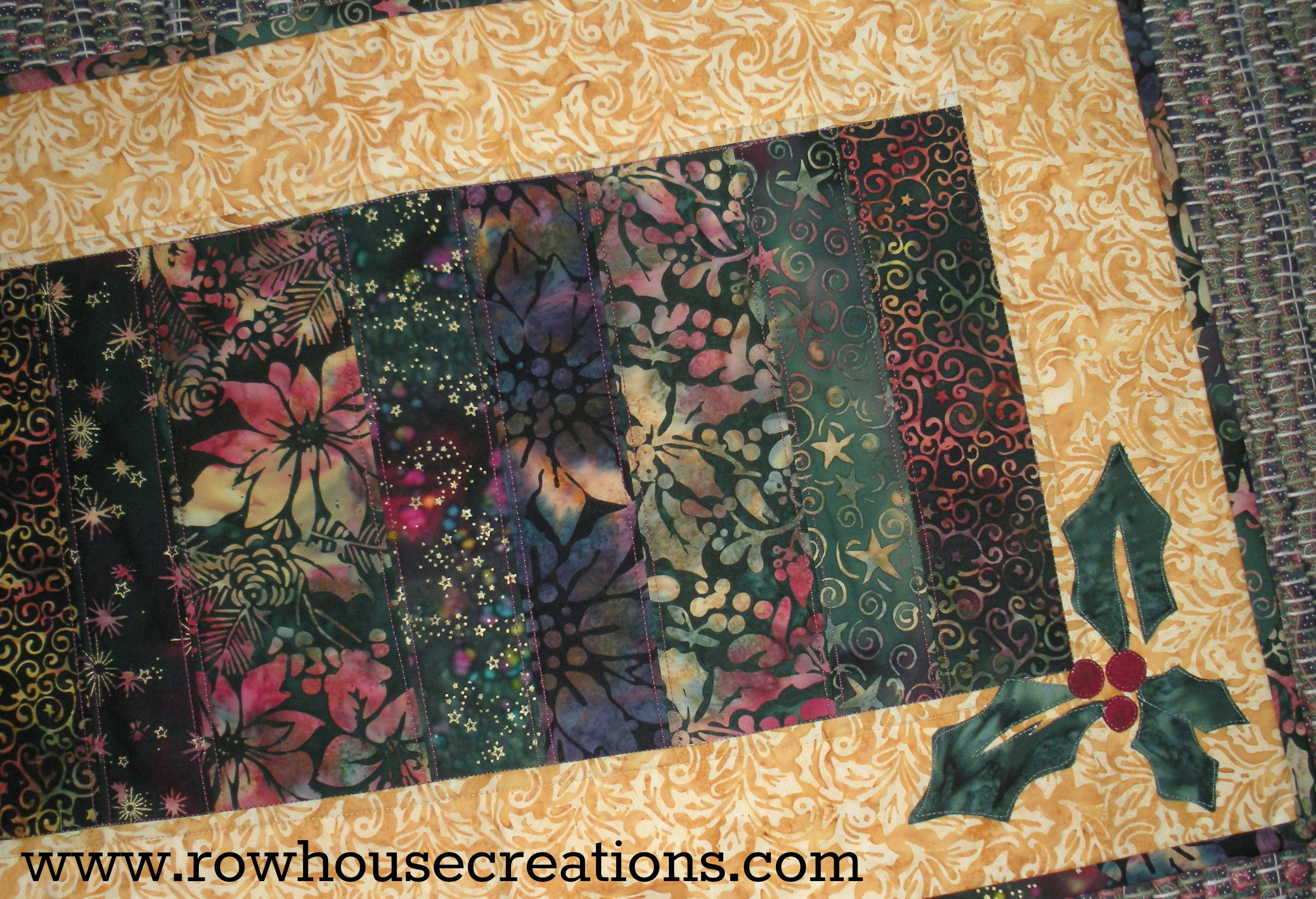 Christmas Table Runner Patterns Free.Christmas Row House Creations